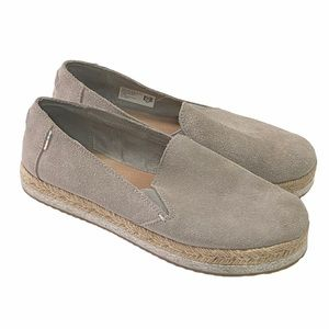 TOMS Gray Slip On Shoes 6.5